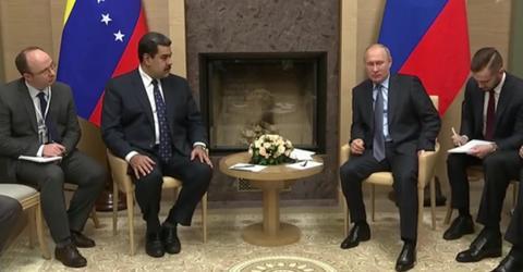 Тема Petro поднималась на официальной встрече Владимира Путина с Николасом Мадуро